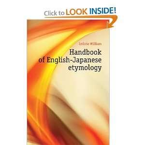Handbook of English Japanese etymology Imbrie William Books