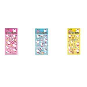 Hello Kitty Sanrio Casting Sticker Set   Pink Yellow Blue