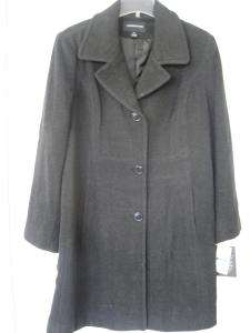 London Fog Womens Wool Blend Coat XL