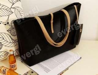 Fashion Korean Womens Classic PU leather Tote Bag Shoulder Handbag
