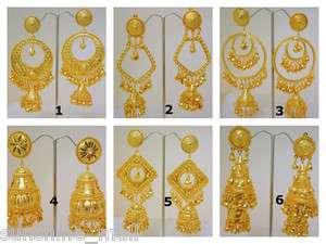 Jhumki Gold Plated Hoop Dangle Chandelier Earrings India Jewelry
