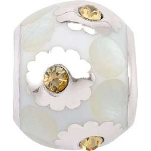 Persona Sterling Silver White Bouquet Charm fits Pandora