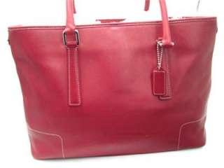 COACH BRIEFCASE LIPSTICK RED DIAPER BAG TOTE CARRYALL BAG 16 X 11 1/2