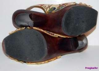 Steve Madden womens Tumbled platform slingbacks shoes 8.5 M multicolor