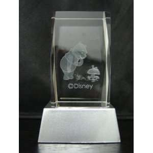 3 D LASER ETCHED CRYSTAL DISNEY WINNIE THE POOH