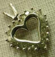 20 DIAMOND HEART SOLID 10K GOLD CHARM PENDANT NECKLACE
