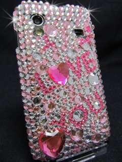 Samsung Galaxy Ace S5830 Cover Case Hülle Schutzhülle Strass Rosa