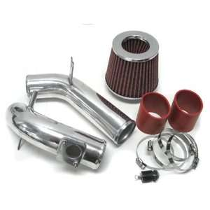 05 06 Mazda Mazda6 4Cyl 2.3L Cold Air Intake Kit Polish with Red Hose