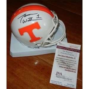 Signed Jason Witten Mini Helmet   UT TENNESSEE VOLS + JSA