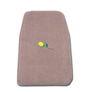 Fit Front Two Piece Floormat with YELLOW ROSE Logo Automotive