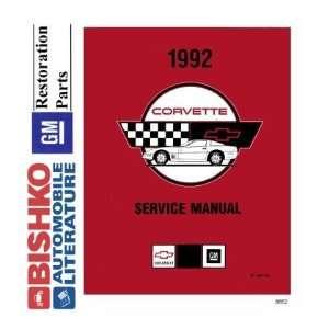1992 CHEVROLET CORVETTE Shop Service Repair Manual CD Automotive