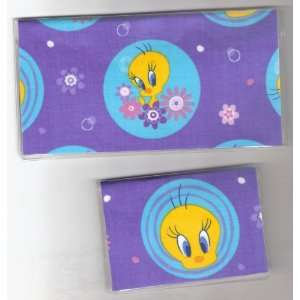 Checkbook Cover Debit Set Made with Looney Tunes Tweety
