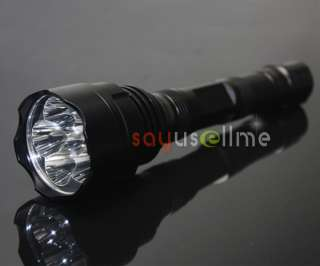6x CREE XR E Q5 LED 1600Lm Flashlight Torch Light Lamp KE7 + 2 x 18650