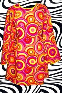Retro Twiggy Hippie Trompetenärmel AbbA Kleid Kostüm 60er 70er Jahre