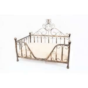Bronze Metal Mimi Bed Frame w/Cushion for Dog Cat Puppies