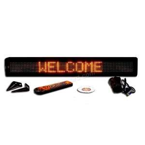 Programmable Message Sign   Amber   4H x 26L x 1D