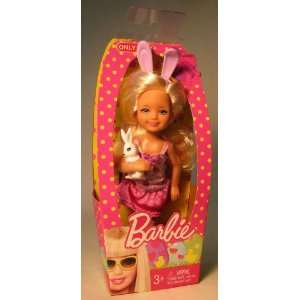 Barbie Easter Kelly holding white bunny : Toys & Games :