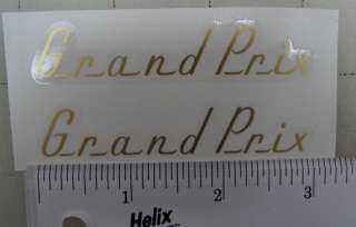 Raleigh Grand Prix decals, pair