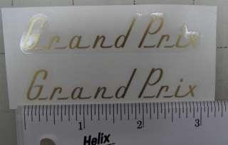 Raleigh Grand Prix decals, pair