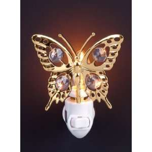 Butterfly 24k Gold Plated Swarovski Crystal Night Light