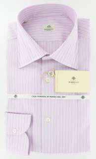 New $400 Borrelli Pink Shirt 16.5/42