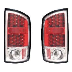 DODGE RAM 02 05 LED TAIL LIGHT RED HOUSING CLEAR LENS NEW
