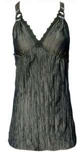 Pretty Angel Clothing Womens Camisole Crinkle Tank Top Silk Blend
