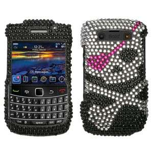 Skull Crystal Bling Case Cover for Blackberry Bold 9700