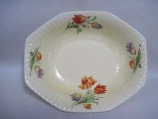 1930s Edwin M. Knowles Oval Tulip Bowl On Marion Shape