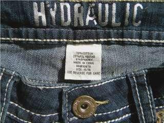Size 15/16 Juniors Dark Blue Capri Jeans Low Rise Stretch NWT