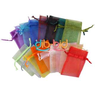 50PCS Organza Jewelry Wedding Gift Candy Pouch Bags 7x9cm