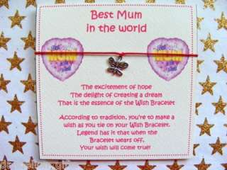 best in the world mum mummy mom mommy wish bracelet the excitement of