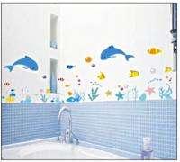 Easy Wall decal decor Sticker   Under the Sea, fish, starfish, dolphin