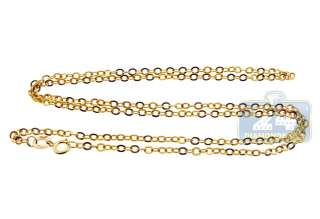 10K Yellow Gold Womens Chain Necklace 18 1/4 inches