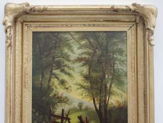 No Reserve) 1800s Landscape Oil Painting CARL VON PERBANDT (1832