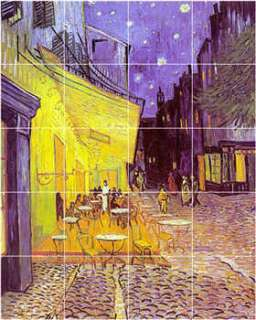 XL Vincent Van Gogh City Scene Painting Bathroom Shower Wall