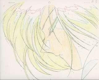 Fushigi Yuugi Anime Cel Pierrot Miaka & Hotohori Kiss HOT