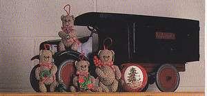 Crochet Pattern ~ TEDDY BEAR ORNAMENTS ~ Christmas