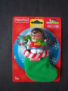 Fisher Price Little People Christmas Girl Figure In Stocking