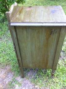 Vintage Art Deco Shabby Cottage chic Nightstand End Table With Drawers