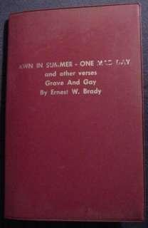 Rare Poetry Card Magic Trick by Ernest W. Brady 1966