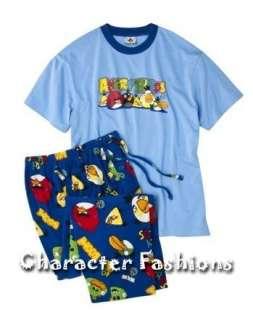 ANGRY BIRDS Pajamas pjs Shirt Pants Mens S M L XL XXL