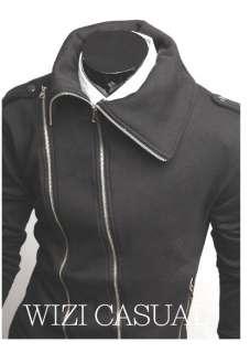 NG Stylish Designer Mens Zip Style Jacket Coat Top Black & Gray