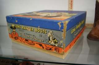 1948 LONE RANGER CHILDS BOOTS IN ORIGINAL BOX COWBOY WESTERN
