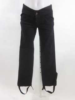 YA YA Black Ankle Strap Straight Leg Pants Sz 2
