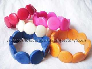 10 COLORFUL TAGUA SEED BRACELETS PERUVIAN JEWELRY ART