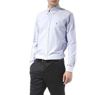 RALPH LAUREN Oxford custom–fit single cuff shirt