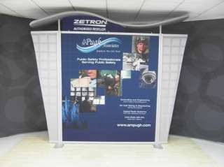 Modern Look SatSaver METAL TRADE SHOW DISPLAY   your graphics needed