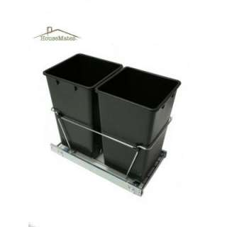 House Mate 27 in. Easy Pull Double Trash Slide Caddy DTC220 at The
