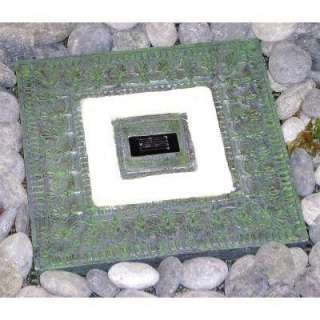 Solar Stepping Stone in Sqaure Design (Garden Green color